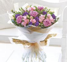 Lilac Rose and Alstromeria Hand Tied