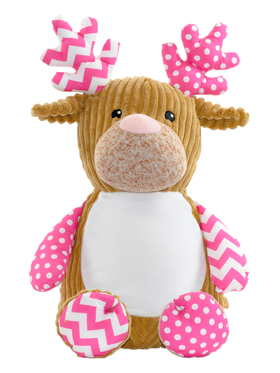 Cupcake the Pink Reindeer - Abi's Arrangements Ltd
