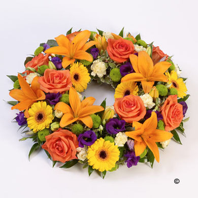 Vibrant Rose & Lily Wreath