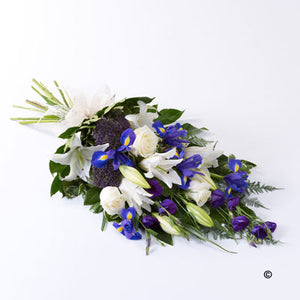Purple and White Classic Tied Sheaf