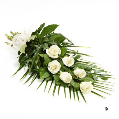 Simple White Rose  Sheaf