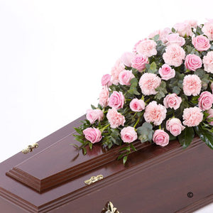 Pink Rose and Carnations Casket Spray