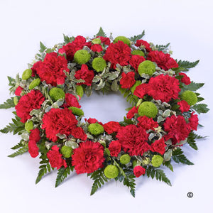 Red Classic Wreath Tribute