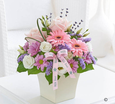 Pink Scented Arrangement - Abi's Arrangements Ltd