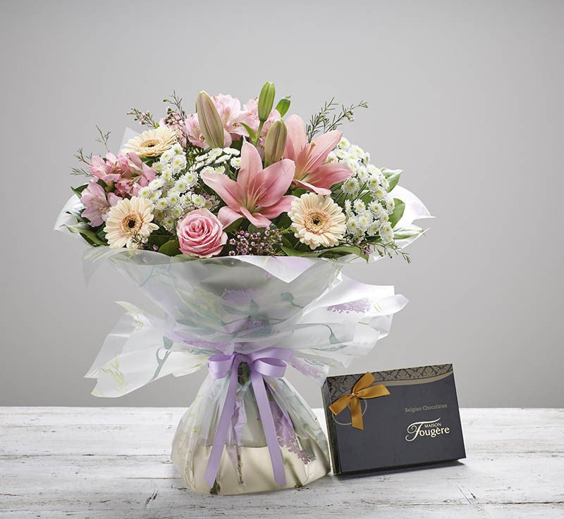 Cherish Handtied with Belgian Chocolates
