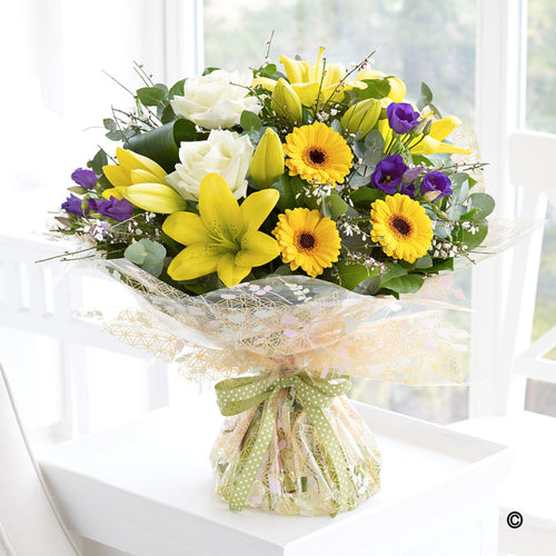 Spring Sunshine Hand Tied
