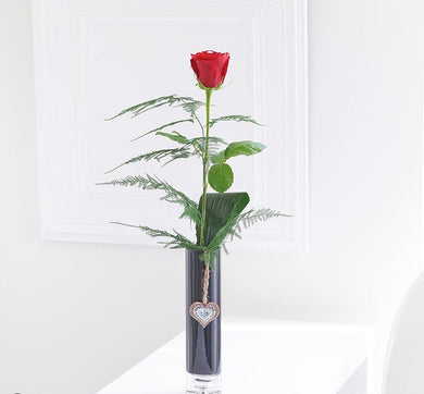 Single Kiss Rose Vase