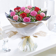 Load image into Gallery viewer, Mixed Rose Hand Tied - Abi's Arrangements Ltd