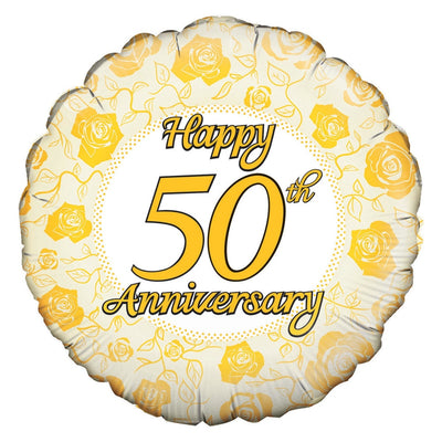 50th Anniversary Balloon - Abi's Arrangements Ltd