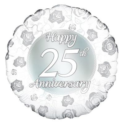 25th Anniversary Balloon - Abi's Arrangements Ltd