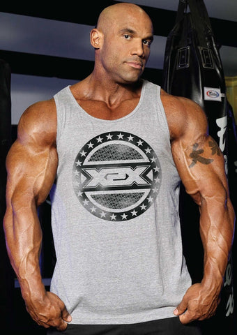 "All-Star X"" Tank high quality triblend fabric bodybuilding tank."