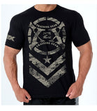"Army ""X"" T bodybuilding t shirts, top quality soft cotton workout clothing."