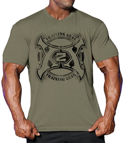Circle Axe 2.0 T bodybuilding tshirts, top quality soft ring spun cotton workout clothing.