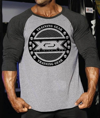 Circle X 2 Tone high quality triblend bodybuilding t shirts, top quality soft cotton workout clothing.