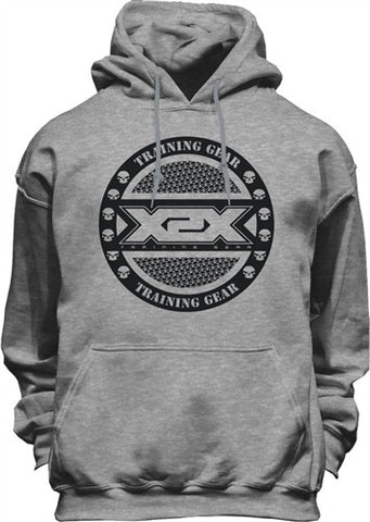 Circle-X Skull Pullover Hoodie