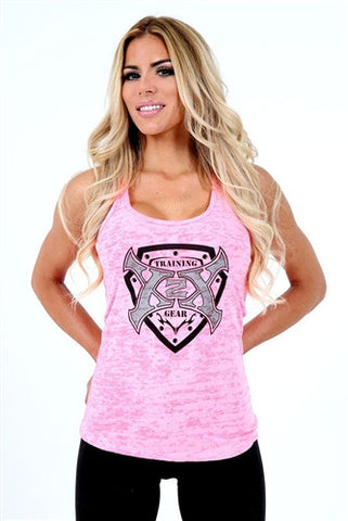 Ladies Burnout Tank Shield