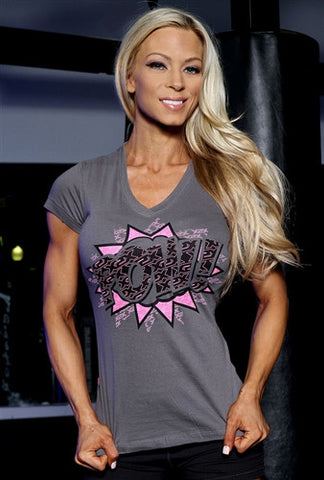 Ladies Pow/Boom V-Neck T
