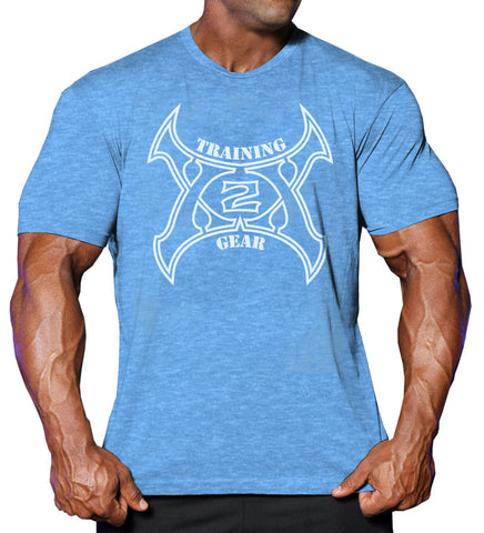 X-Out Tee Heather Blue