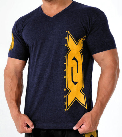 Navy Vertical V-Neck