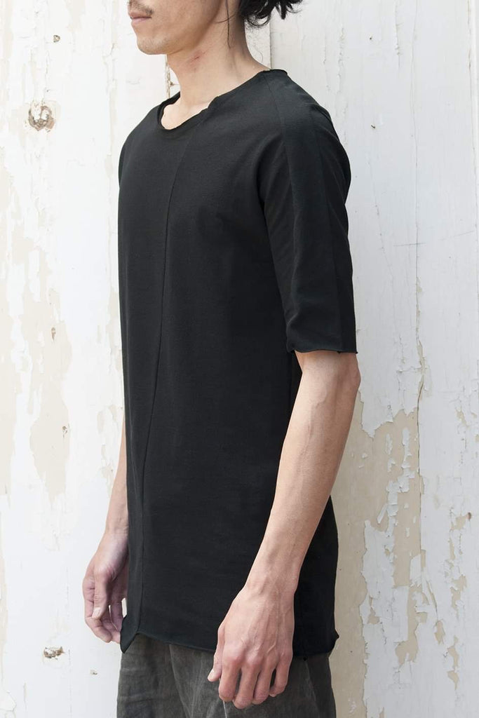 Asymmetric Cut Short Sleeve T-shirt - lumenetumbra