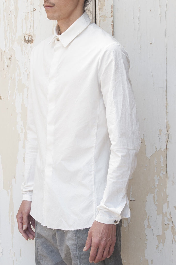Set-in Sleeve Classic Super Dry Cotton Shirt - lumenetumbra