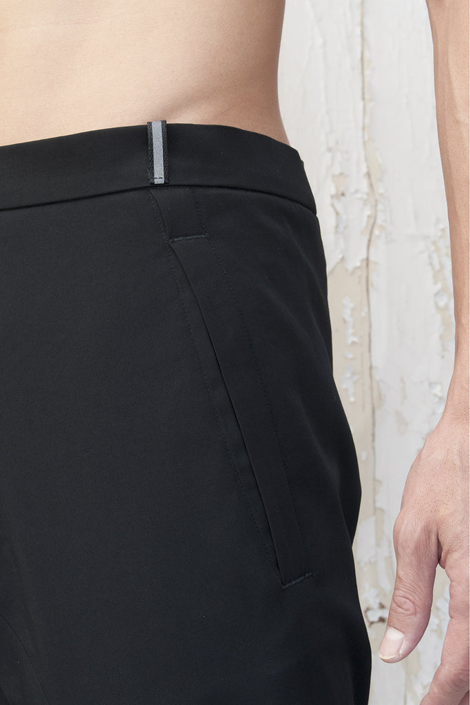 One Piece Cut Reflective Belt Loop Trousers
