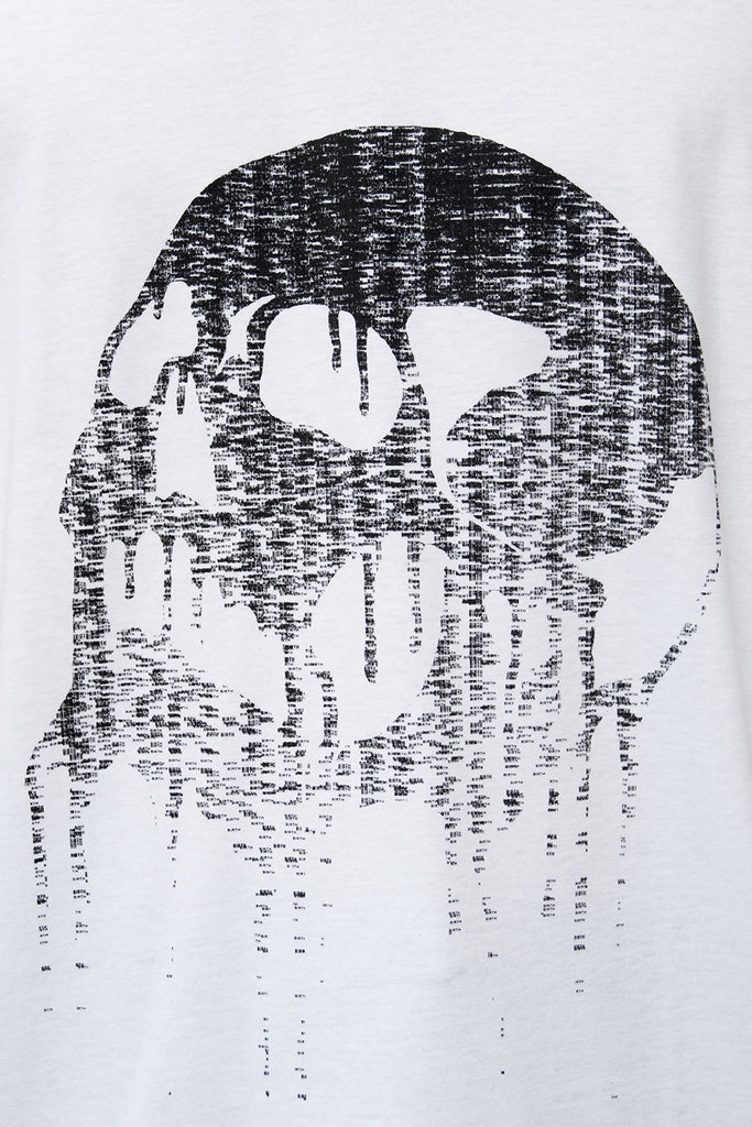 Calligram Skull - Birth Print Loose Fitting T-shirt - lumenetumbra