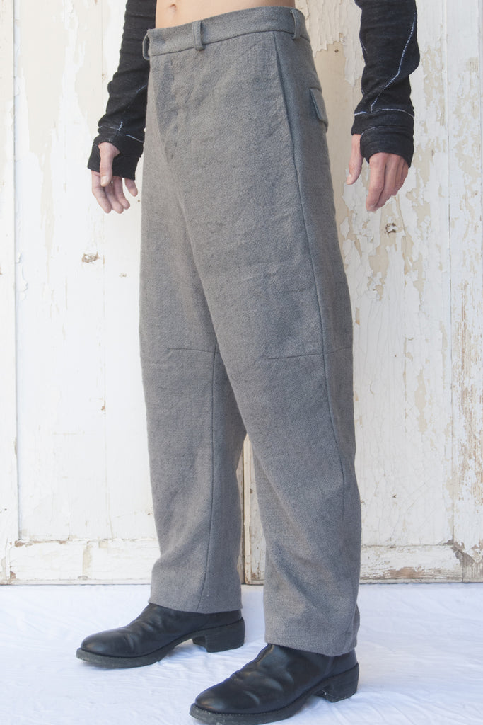 Three Quarters Wool Linen Trousers
