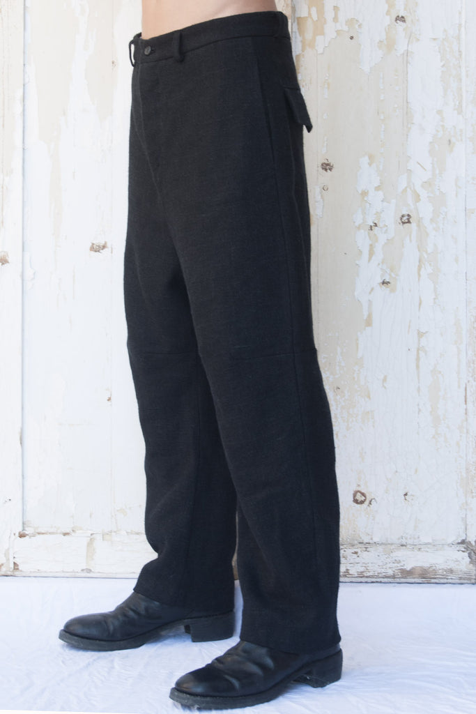 Three Quarters Wool Linen Trousers - lumenetumbra