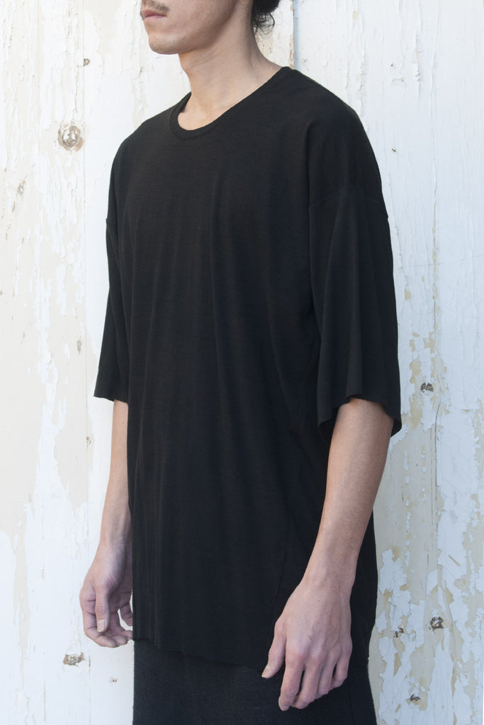 Loose Fitting Light Wool T-shirt - lumenetumbra
