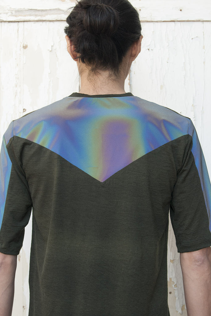 Short Sleeves Reflective Hologram T-shirt - lumenetumbra