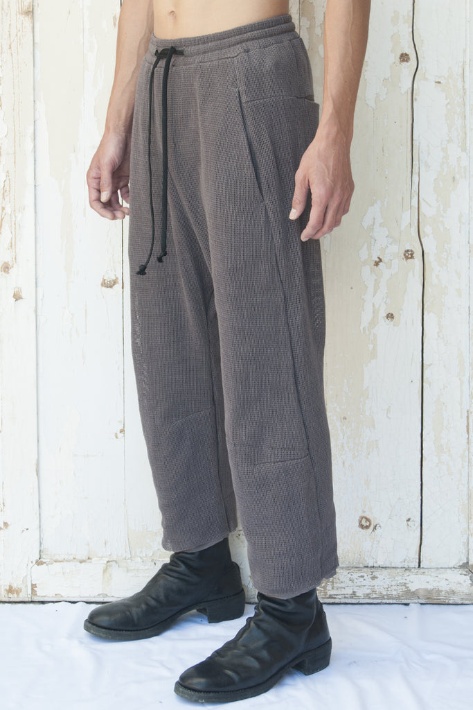 Double Layer Drawstring Cotton Net Curve Trousers