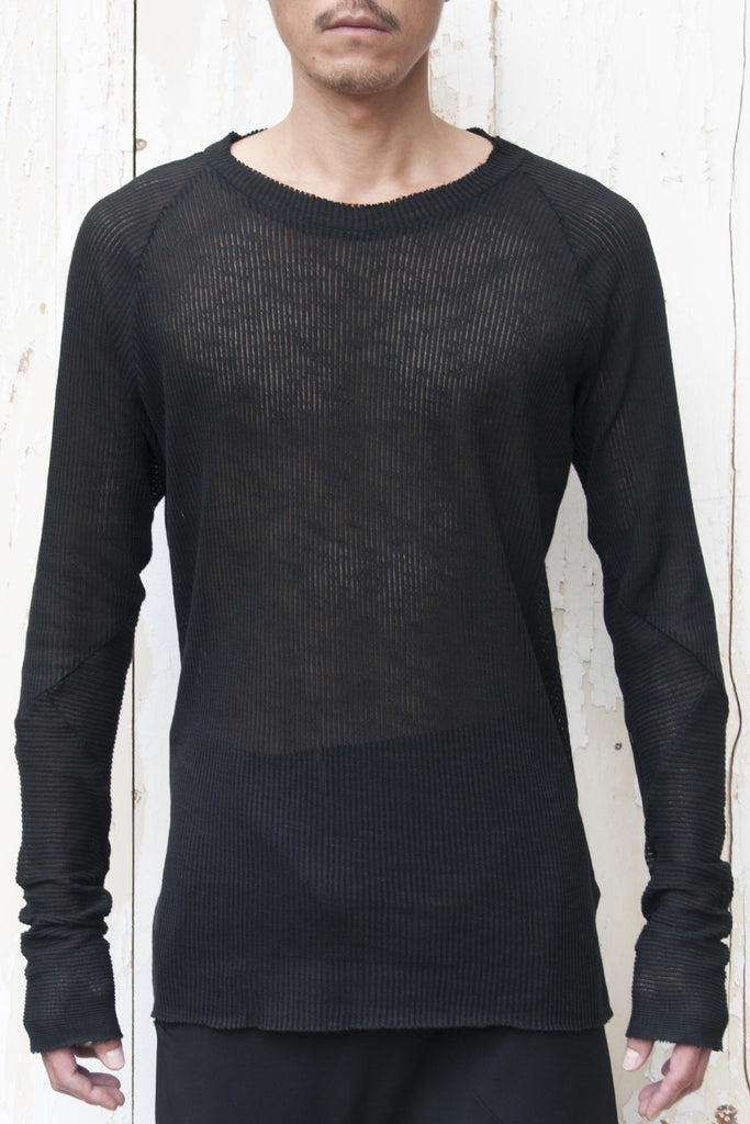 Rib Anatomic Raglan Sleeves T-shirt
