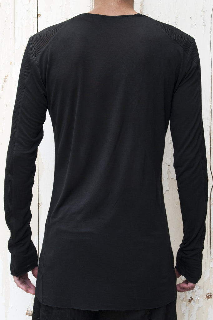 Rib - Viscose Long Sleeves T-shirt