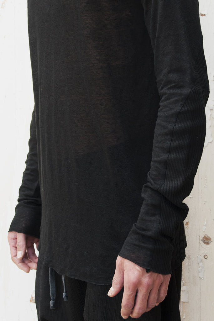 Rib - Linen Long Sleeves T-shirt