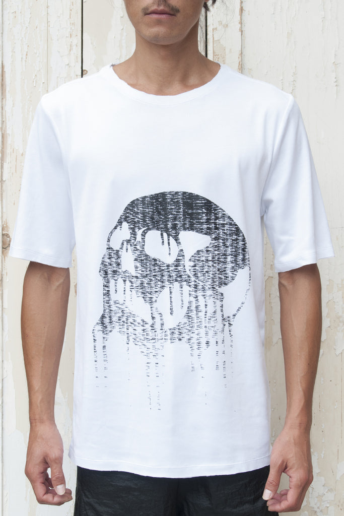 Calligram Skull - Birth Print Regular Fitting T-shirt