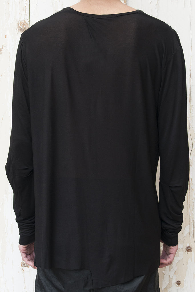 Pleats Long Sleeve T-Shirt
