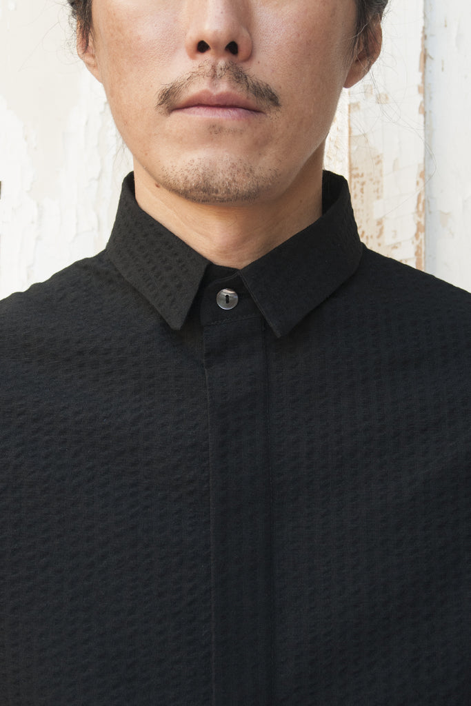 Japanese Wool Cotton Remake 50'S Fabric Shirt