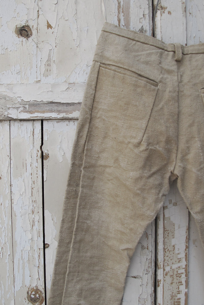 Straight Slim fit 50s deadstock Linen Trousers