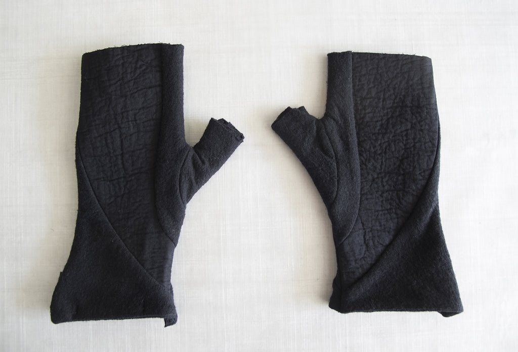 Wool Cotton Reversible Gloves - lumenetumbra