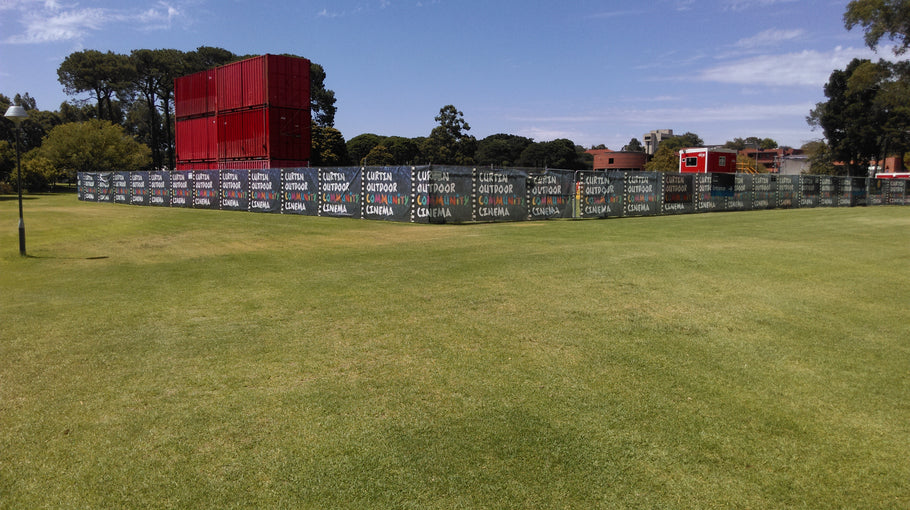 Curtin University Outdoor  Cinemas Signage Bentley | Event Signage | Mesh Banner | Metal Signs