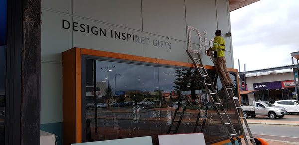 Installation of cut out lettering and LED illuminated signage Butler WA