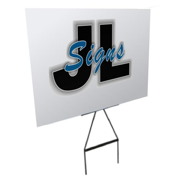 2x Corflute & Grass Stake Signs 500 x 500mm (choose from different pack sizes to reduce unit cost)