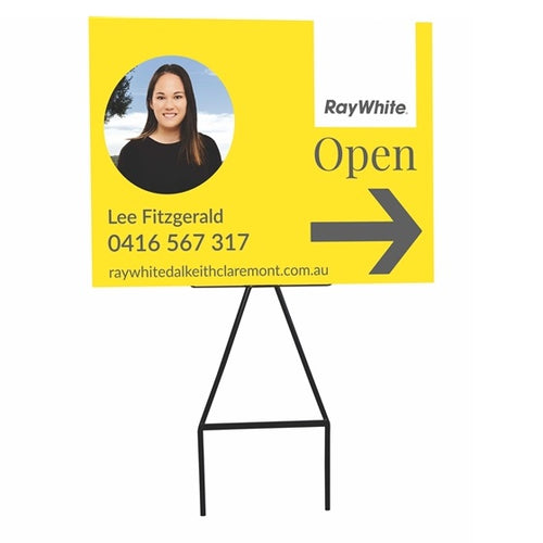 Real Estate Corflute Signs Pointer Signage Grass Stakes Perth Western Australia