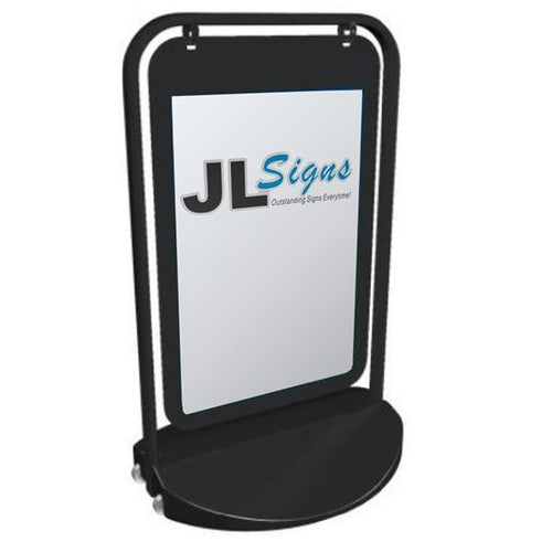 T-Frame Sign 500 x 750mm (with swinging poster insert acrylic face)