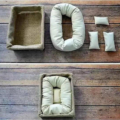 4 piece newborn photography props cycle ring and pillows minimal mamas