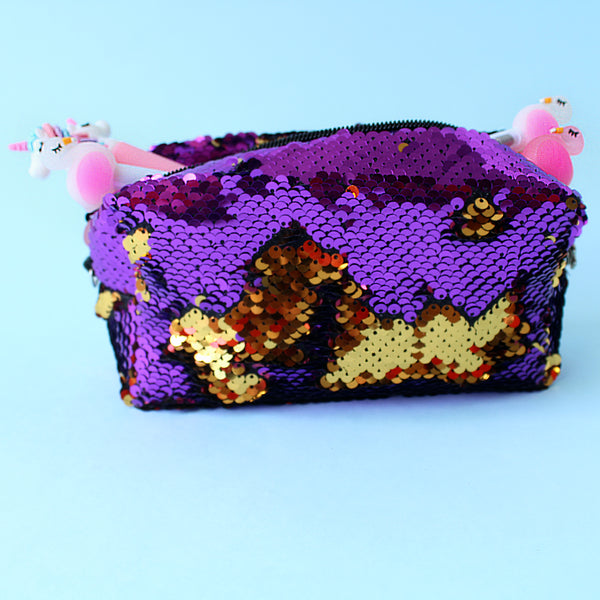 Cosmetiquera lentejuelas Sequins Fever Purple Disco