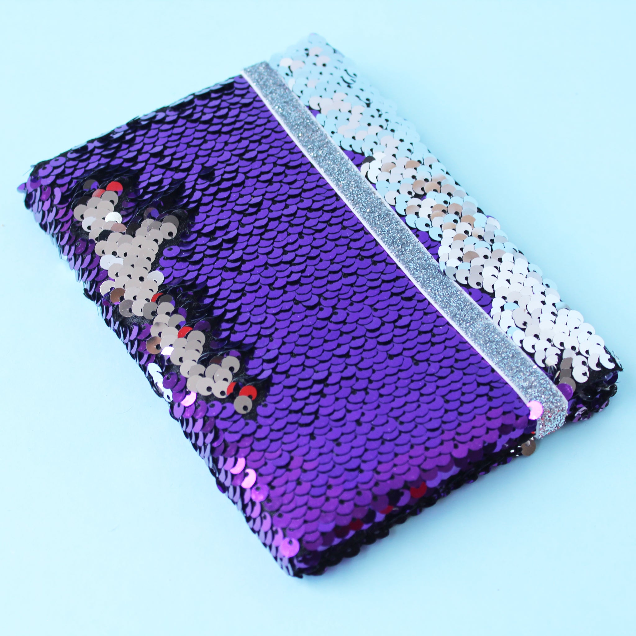 Libreta Mini Sequins Fever Purple Silver