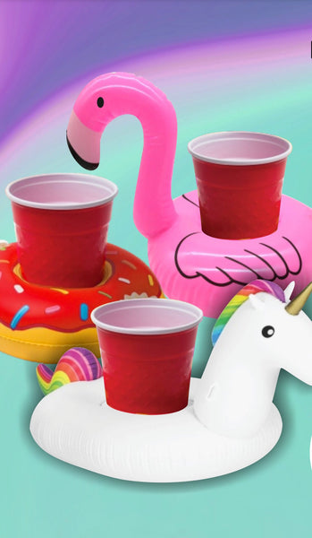 portavasos flamingo, unicornio y dona easy tiger