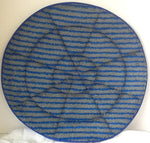6 Pad Blue and Grey Stripes